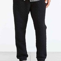 Shades Of Grey By Micah Cohen Geo Quilted Jogger Pant - Black
