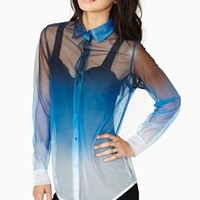 Motel Dark Fade Mesh Blouse
