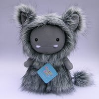 Frost Monster by Stuffed Silly, Cute and Furry Plush Toy, Soft Art Collectible Doll