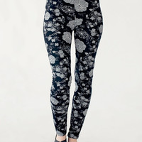 High waist Tights, Flowers print leggings, maternity clothing, Plus size clothing S-M-L-XL-XXL