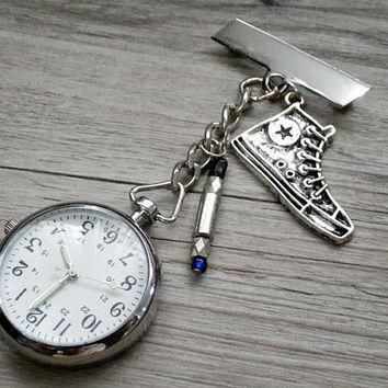 doctor who pocket watch with blue sonic screwdriver converse chuck taylor all star