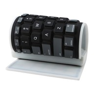 AGPtek® Wireless Bluetooth Washable Silicone Roll up Keyboard for New iPhone 4 4S 5, iPad 2 3, Kindle Fire HD, Laptop, Android Tablets and Smart phones