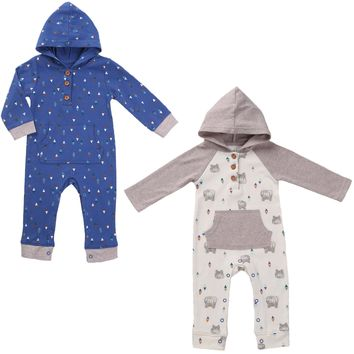 Twin Boys Hoodie Outfit Set