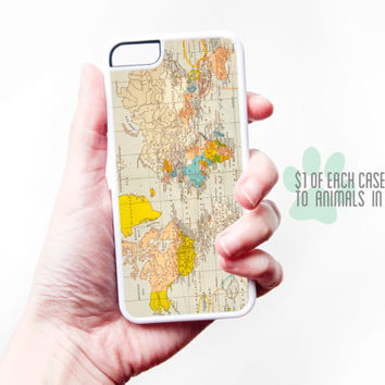 Map iPhone Case - Map iPhone 5S Case Vintage Map iPhone 4S Case Map iPhone 4 Case Pastel iPhone 5 Case Vintage Mp iPhone 5C Case
