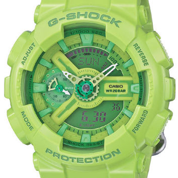 Casio G-Shock S Series - Green Case and Strap - World Time - Anti-Magnetic