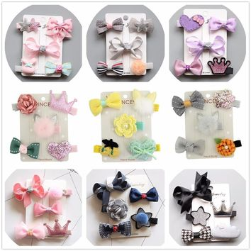 kawaii hair accessories bows for children clips tiara headdress girl hairclip hairpin hair barrette ornaments headwear hairgrips
