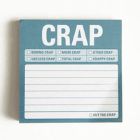 """Crap"" Sticky Notes - $4.00 : ThreadSence, Women's Indie & Bohemian Clothing, Dresses, & Accessories"