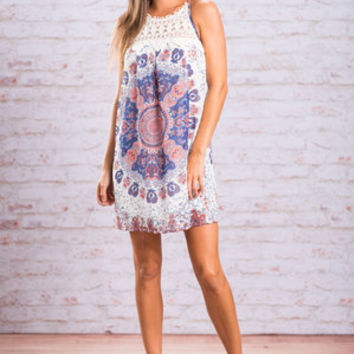 Into Your Eyes Dress, Navy