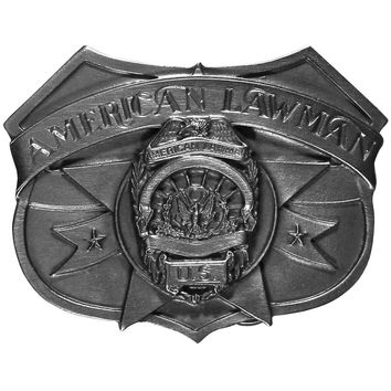 Sports Jewelry & AccessoriesSports Accessories - American Lawman Antiqued Belt Buckle