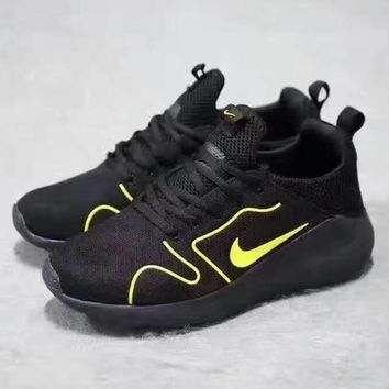 Nike Fashion Running Sport Casual Shoes Sneakers Starry sky Soles black-yellow