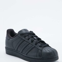 Adidas Superstar All Black Trainer - Urban Outfitters