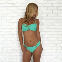 Make A U Turn Bikini Set In Mint