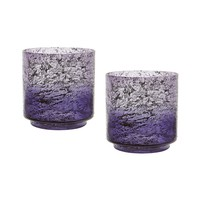 Ombre Hurricanes In Plum - Set of 2 Purple Ombre