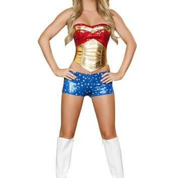 Roma Costume USA 4377 4pc Wonder Heroine