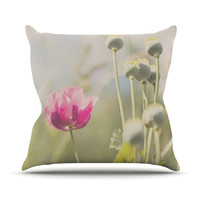 "Laura Evans ""Looking Up"" Flower Throw Pillow, 18"" x 18"" - Outlet Item"