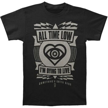 All Time Low Men's  Hypno Slim Fit T-shirt Black