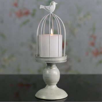 birdcage metal candle holder for home decoration or wedding, romantic candlelight dinner candlestick