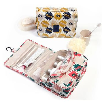 High quality travel cosmetic bag professional beautician organizer cosmetics pouch woman makeup bag living toilet necessities