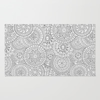 Circle Doodle Art Rug by Kate & Co.