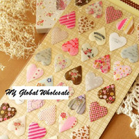New creative 3D heart style quality PVC sticker DIY Multifunction label mobile stickers Scrapbooking School Office Stationery