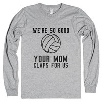 Volleyball <3-Unisex Heather Grey T-Shirt