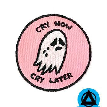 Sara M. Lyons - Cry Now, Cry Later Ghost Patch - Pink