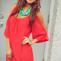 GLAM: Keep Him Curious Dress: Red | Hope's