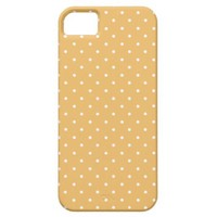 Beeswax Color And White Medium Polka Dots iPhone 5 Cover