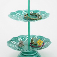 Urban Outfitters - Double-Tiered Doily Jewelry Stand