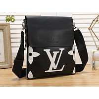 LV X Supreme Fashion Full Print Color Matching Shopping Bag Single Shoulder Bag