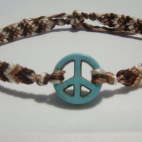 Peace Sign Friendship Bracelet