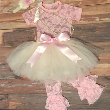 Baby Girl First Birthday Dress Outfit Tutu 1st