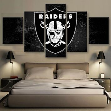 Las Vegas Raiders Football Canvas