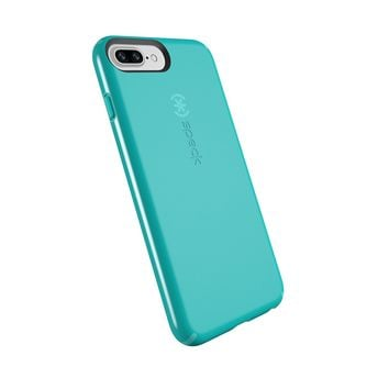 Speck Products CandyShell Cell Phone Case for iPhone 8 Plus (Also fits 7 Plus and 6S/6 Plus) - Jewel Teal/Mykonos Blue