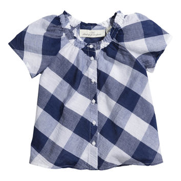 H&M - Checked Cotton Blouse