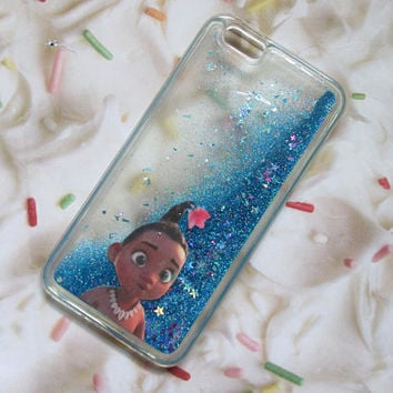 Moana Water iPhone Liquid Glitter Case