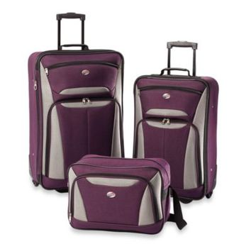 American Tourister® Fieldbrook II 3-Piece Luggage Set in Purple/Grey