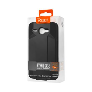 REIKO ALCATEL ONE TOUCH SONIC LTE 3-IN-1 HYBRID HEAVY DUTY HOLSTER COMBO CASE IN BLACK
