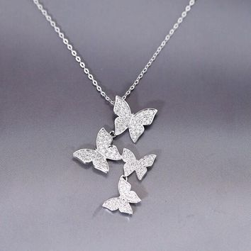 Sterling Silver Butterfly Necklace Pendant