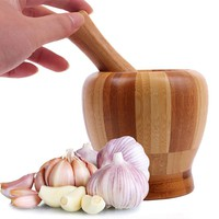 Natural Bamboo Mortar and Pestle