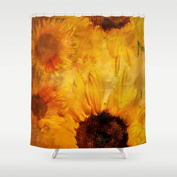Sunshine On My Shoulder Shower Curtain by Theresa Campbell D'August Art