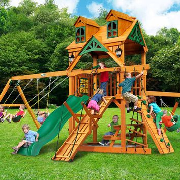 Gorilla Playsets Frontier Malibu Wooden Swing Set