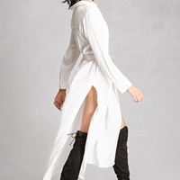 Slit Maxi Shirt Dress