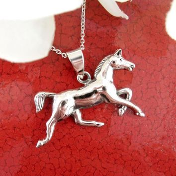 Graceful Trotting Horse Necklace