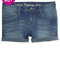 ROLL CUFF DENIM SHORTS | GIRLS SPRING PREVIEW NOW TRENDING | SHOP JUSTICE