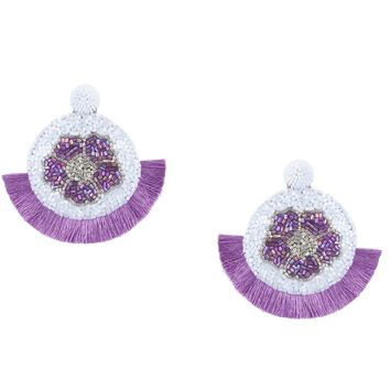 Poppy Earrings in Lilac