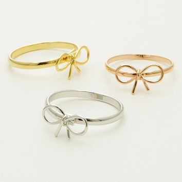 Knot Ribbon Ring / ribbon tie ring, simple ribbon ring, gift ring, gift for her, girl's ring / R035