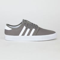 Adidas Seeley J Boys Shoes Mid Cinder/Running White  In Sizes