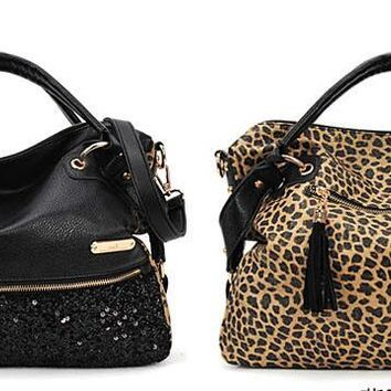 Casual Tote Women Shoulder Bags Cow Women Bags Designer Brand Female Handbags Hobo Crossbody Bags Sac leopard purse