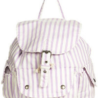 Striped Denim Backpack - Bags & Wallets  - Accessories
